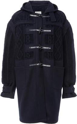 Maison Margiela Cable-Knit Toggle Coat