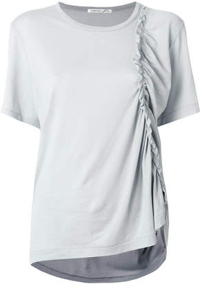 Y's short sleeved ruffle T-shirt
