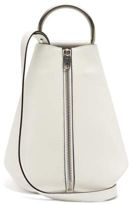 Proenza Schouler Vertical Zip Leather Backpack - Womens - White Multi
