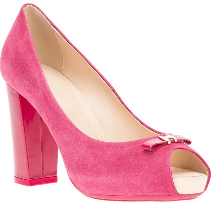 Hogan peep toe pump