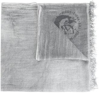 Diesel logo pattern scarf $106.84 thestylecure.com