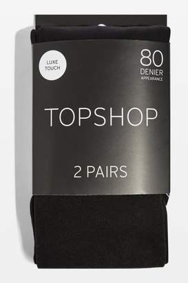 Pack of two 80 denier tights