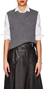 Derek Lam Women's Rib-Knit Cashmere Sleeveless Sweater - Grey