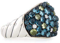 David Yurman Cable Berries Mosaic Dome Ring with Diamonds