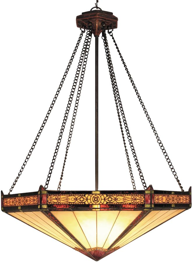 Bed Bath & Beyond ELK Lighting Filigree and Glass 3-Light Pendant Finished in Aged Bronze