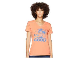 Life is Good Vintage Palms Crusher Vee T-Shirt