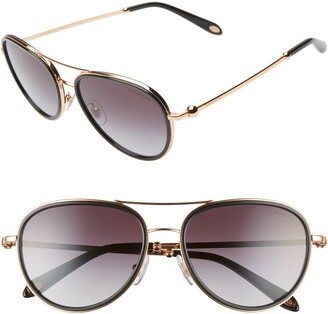 Tiffany & Co. 55mm Gradient Aviator Sunglasses