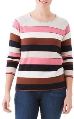Olsen Nordic Mood Multi-Stripe Crewneck Sweater