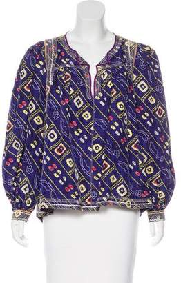 Isabel Marant Printed Silk Tunic Top