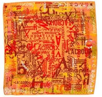 Christian Lacroix Silk Printed Scarf w/ Tags