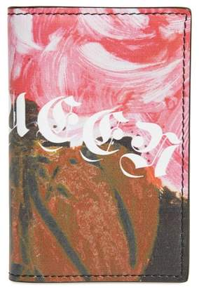 Alexander McQueen Floral Print Leather Print Card Case