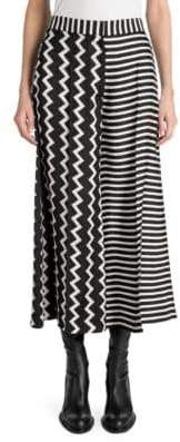Stella McCartney Silk Stripe Midi Skirt