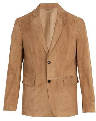 Dunhill Single Breasted Suede Blazer - Mens - Beige