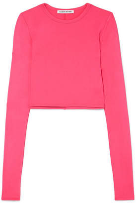 Elizabeth and James Desmond Cropped Stretch-jersey Top - Pink