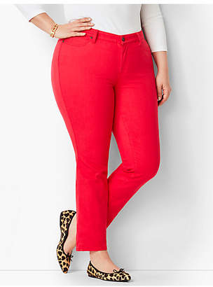Talbots Plus Size Exclusive Garment Dyed Slim Ankle Jeans - Color