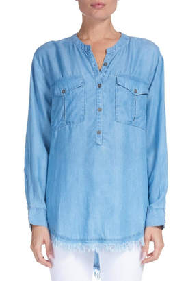 Elan International Chambray Fringe-Edge Popover