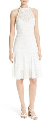 Women's Tracy Reese Stretch Lace Flare Hem Frock $348 thestylecure.com