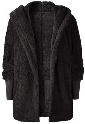 Goodnight Macaroon 'Henrika' Hooded Furry Jacket (4 Colors)