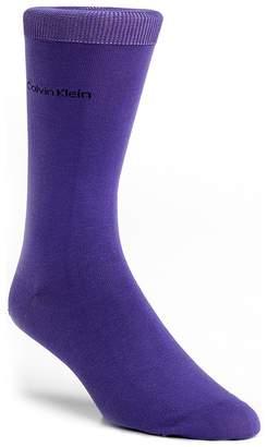 Calvin Klein Giza Cotton Flat Knit Socks