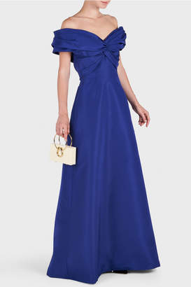 Carolina Herrera Off Shoulder Gown