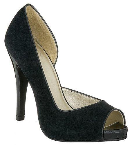 Mossimo® Dulce Velvet Peep Toe Pumps -Black