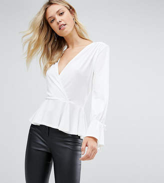 John Zack Tall Wrap Front Blouse