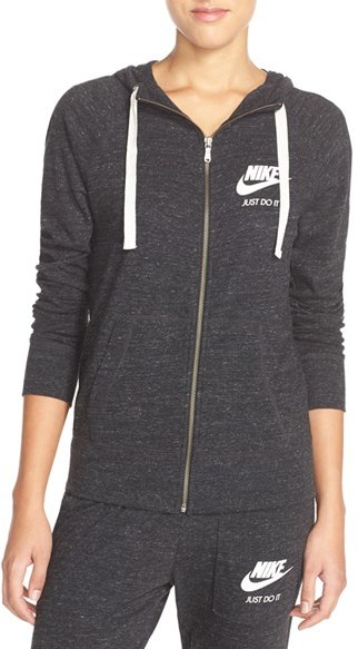 Women's Nike 'Gym Vintage' Front Zip Hoodie