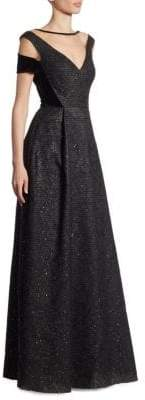 Talbot Runhof Sequin Taffeta Illusion Gown