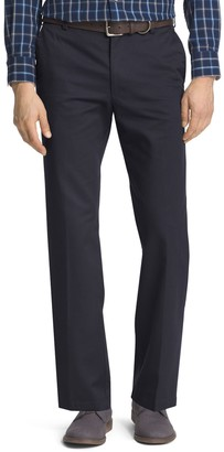 Izod Men's American Chino Straight-Fit Wrinkle-Free Flat-Front Pants