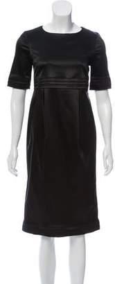 Burberry Paneled Midi Dress