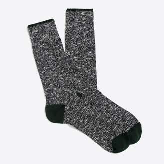 J.Crew Marled-cotton tipped socks