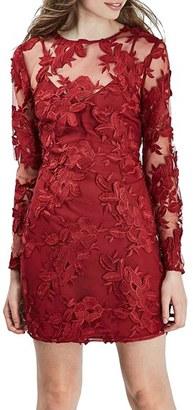 Topshop Lace Appliqué Long Sleeve Minidress $110 thestylecure.com