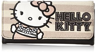 Hello Kitty Striped Canvas Trifold Wallet $27.62 thestylecure.com