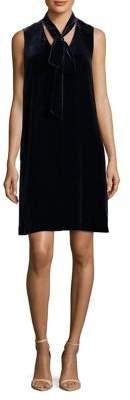 Lafayette 148 New York Ronan Tie-Neck Velvet Dress
