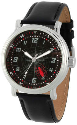 Marvel Spiderman Mens Black Strap Watch-Wma000267
