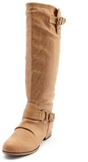 zip back pleather knee high boot sold out thestylecure