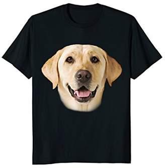Yellow Labrador Portrait Detailed Animal Novelty T-Shirt