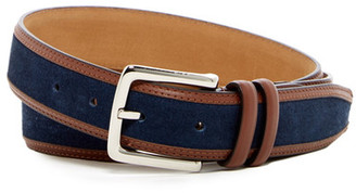 Cole Haan Feather Edge Suede Belt $78 thestylecure.com
