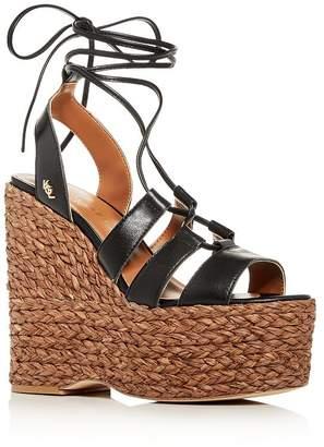 Kurt Geiger Women's Nova Ankle-Tie Platform Wedge Sandals