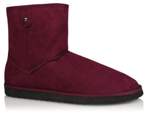 George Burgundy Fleece Lined Snug Outdoor Boots