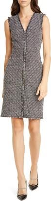 Rebecca Taylor Tailored by Sleeveless Cotton Blend Sheath Dress