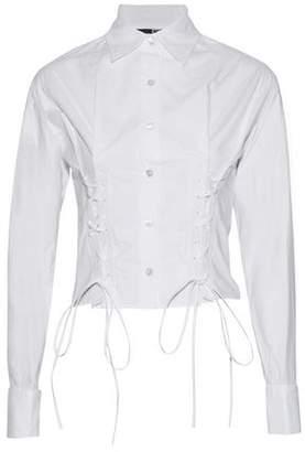 McQ Lace-up Cotton-poplin Shirt