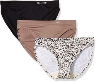 Vassarette Women's Sensational Stretch Bikini 3-Pack Panty 18616