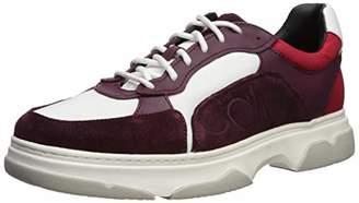 Calvin Klein Men's PENLEY Smooth Calf LTHR/Suede/NYL Sneaker 10.5M M US