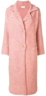 Chiara Bertani glitter effect coat