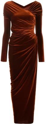 Alexandre Vauthier velvet long dress