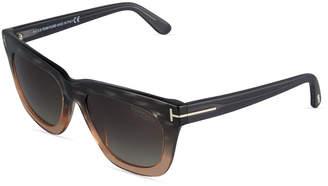 TOM FORD Celina Square Ombre Acetate Sunglasses $199 thestylecure.com