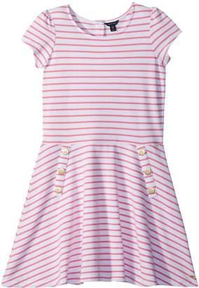 Tommy Hilfiger Yarn-Dye Stripe Dress Girl's Dress