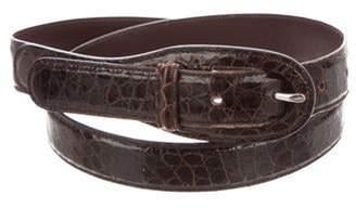 Tod's Crocodile Hip Belt brown Crocodile Hip Belt