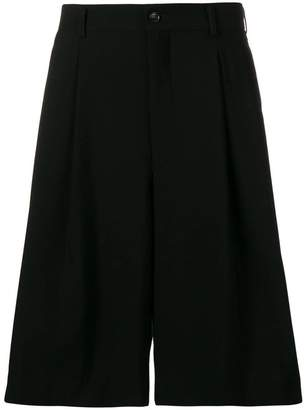 Comme des Garcons pleated knee length shorts